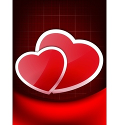 Valentines Red Abstract Wallpaper EPS 10 vector image