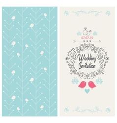 vintage wedding invitation design card vector image