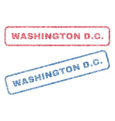 washington dc textile stamps vector image