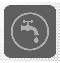 Water Tap Rounded Square Button vector