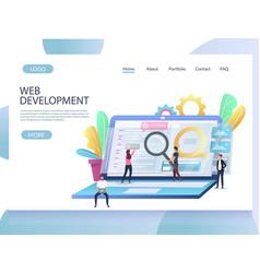 web development website landing page design vector image