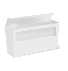 white product package box with window vector image