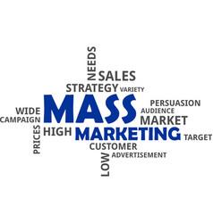 Word cloud - mass marketing vector