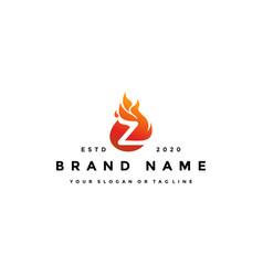 Z letter logo fire design vector