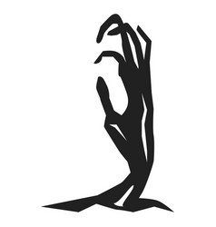 Zombie hand from ground icon simple style vector