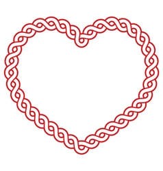 Celtic pattern red heart shape - love concept for vector image vector image