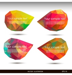 Colorful speech bubbles for your business website vector image vector image