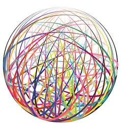 Colorful strings ball vector image vector image
