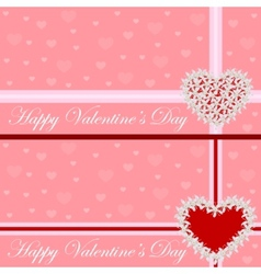 Greeting card - heart of flowers Valentines day vector image vector image