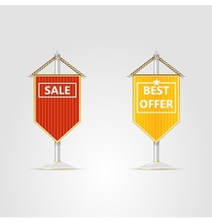 two pennons for sale vector image vector image
