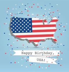 USA greetings postcard vector image vector image