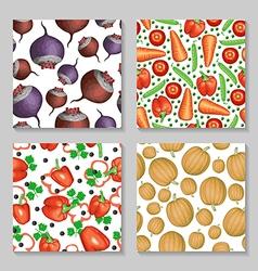 vegetables pattern set2 vector image