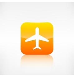 Plane airplane icon vector image