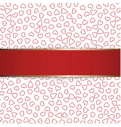 Realistic Christmas or Valentines Day red Ribbon vector image vector image