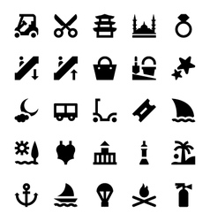 Tourism and travel icons 12 vector