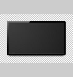 Wide realistic 4k tv screen modern smart vector