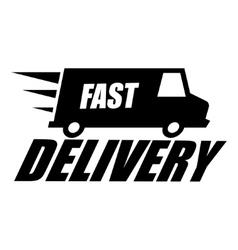 Black fast delivery icon vector