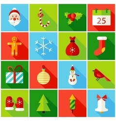Christmas Colorful Icons vector image