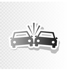 crashed cars sign new year blackish icon vector image