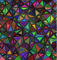 Dark colored triangle mosaic background design vector