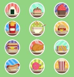 Food Menu Flat Icon vector image