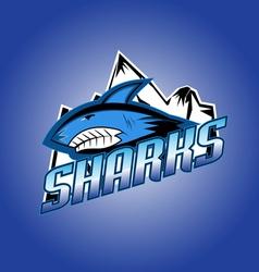 Sharks club professional logo vector image