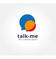 Abstract messenger logo icon concept Logotype vector image