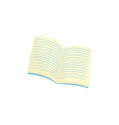 blank opened notebook cartoon vector image