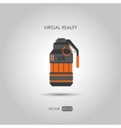 Grenade Gun for virtual reality system vector image