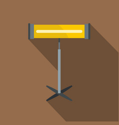 Home heating appliance icon flat style vector