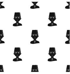 turkhuman race single icon in black style vector image vector image