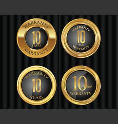 10 years warranty golden labels collection 8 vector image