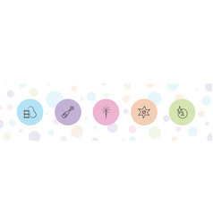 5 explosion icons vector