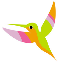 a flying colorful hummingbird or colibri vector image