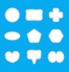 abstract bubbles speech set isolated on blue vector image