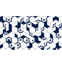 Abstract geometric lines cube background vector
