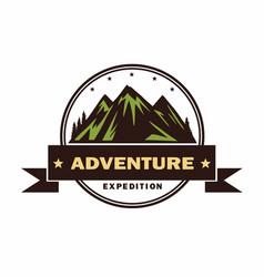 adventure camping campfire camping logo vector image