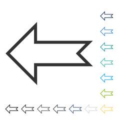 Arrow left icon vector