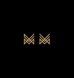 artistic line art m logo icon vector image