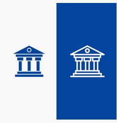 Bank institution money ireland line and glyph vector