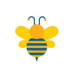 bee with wings and stripes vector image