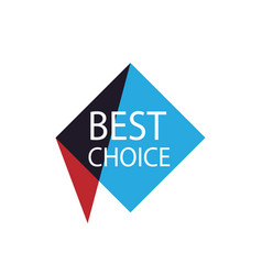 best choice isolated sticker vector image