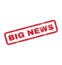 Big News Text Rubber Stamp vector image