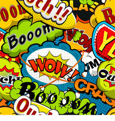 Bright and multicolored Comics Speech Bubbles Seam vector image