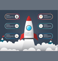 business infographic start up style icons and vector image