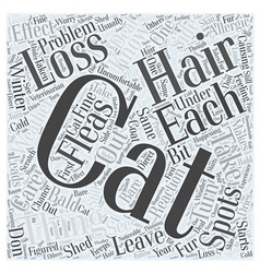 Cat hair loss Word Cloud Concept vector