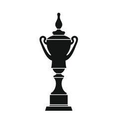 champion cup for winner in silhouette style vector image