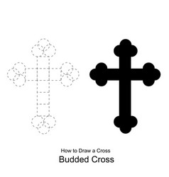 christian cross icon latin cross icon on backgroun vector image