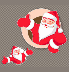 christmas drawing with a silhouette of santa claus vector image