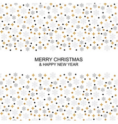 christmas greeting card with snowflakes and vector image